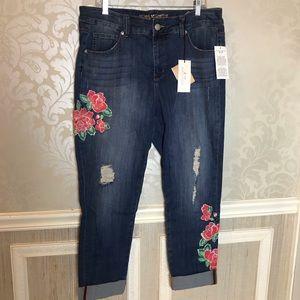 Melissa McCarthy 7  16W cuffed skinny NWT jeans